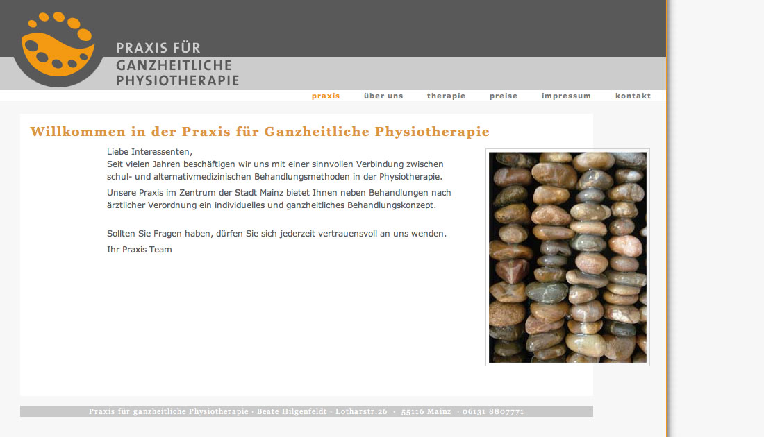 Website Physiotherapie Praxis