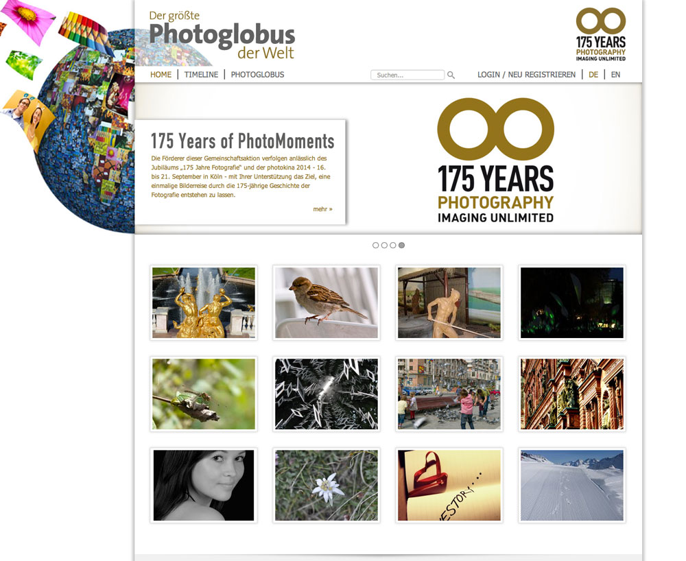 Screendesign Photoglobus