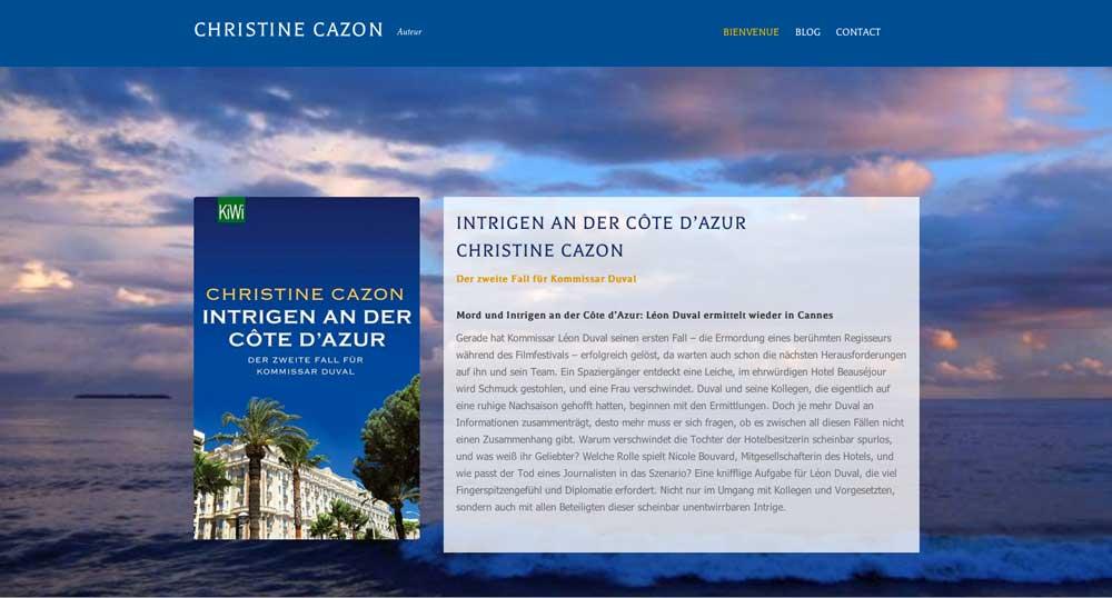 Christine Cazon Autorinnenwebsite