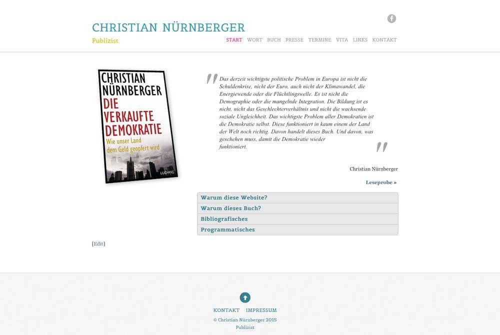 Christian Nürnberger Autorenwebsite