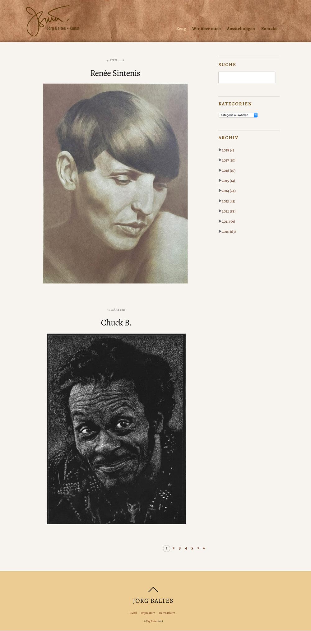 Website Künstler